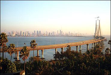 The Worli-Bandra sealink, Mumbai.