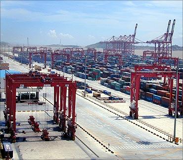 Shanghai Port.