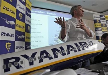 Michael O'Leary, chief executive of Ryanair, at a press conference