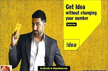 Idea Cellular ad.