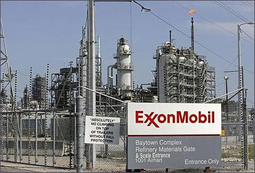 Exxon Mobil refinery in Baytown, Texas.