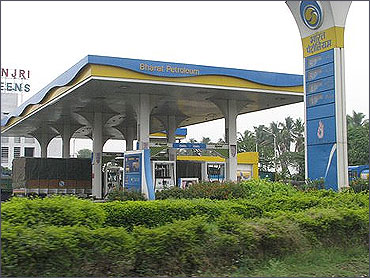 BP's fuel station near Pune.