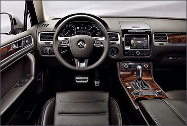 Interior view of Touareg.