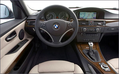 Dashboard of BMW X3.