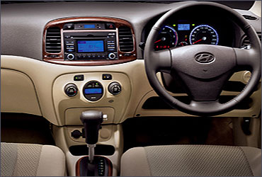 Interior view of Hyundai Verna Fluidic.