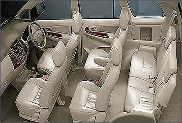 Interior view of Innova.