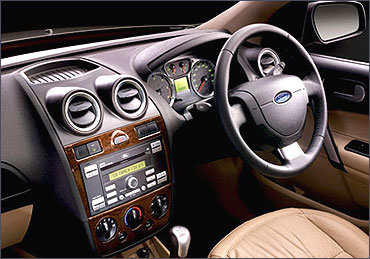 Interior view of Ford Fiesta.