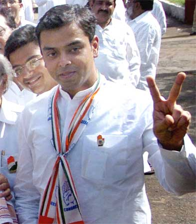Milind Deora too ws inducted in the council of ministers.
