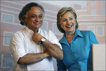 Jairam Ramesh and US Secretary of State Hillary Clinton.
