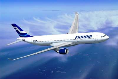 A Finnair aircraft.