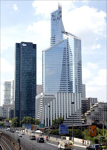 First Tower, France's tallest skyscraper which measures 231 metres (757 feet), is seen in the business district of La Defense, near Paris.