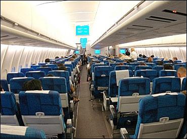 Finnair cabin.