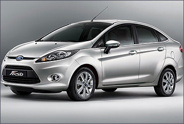 The new Ford Fiesta.