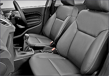 Front seats of Ford Fiesta.