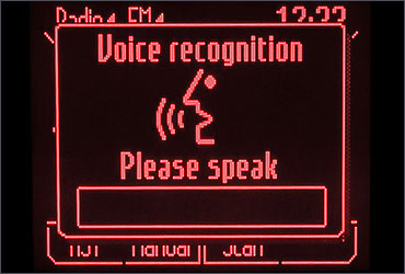 Voice recognition system of Ford Fiesta.