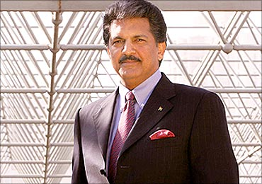 Anand Mahindra met all the large customers.