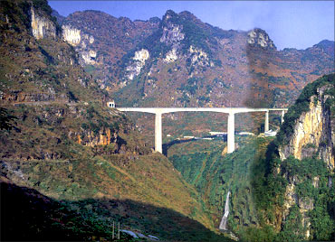 Qingshuihe River Railway Bridge.