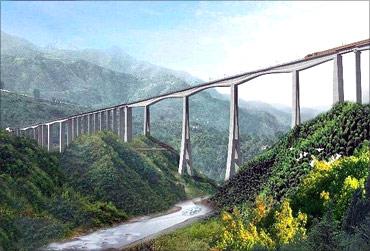 Caijiagou Railway Viaduct.