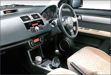 Interior view of Dzire.