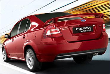 Rear view of Fiesta Classic.