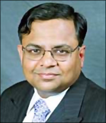 TCS chief executive N Chandrasekaran.