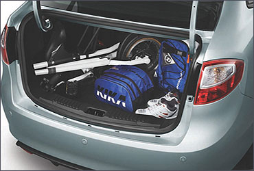 Great trunk space to carry your world along.