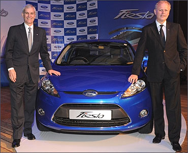 Nigel Wark, executive director, marketing, sales and Ford India President and MD Michael Boneham.