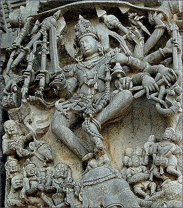 Hoysala Empire sculptural articulation in Belur.