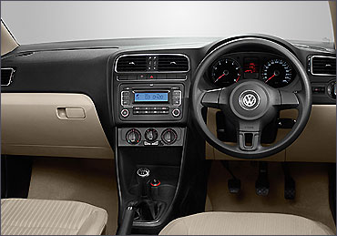 Dashboard of Volkswagen Polo.