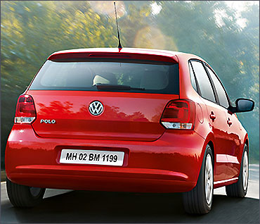 Rear view of Polo.