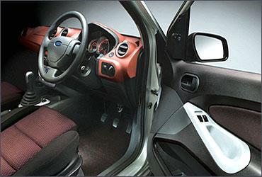 Interior view of Ford Figo.