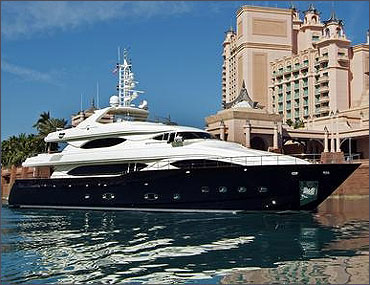 An yacht from the Ferretti group.
