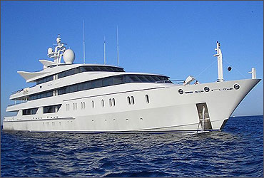 Vijay Mallya's yacht 'Indian Express'.