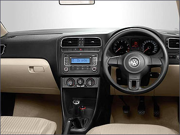 Interior view of Volkswagen Polo.