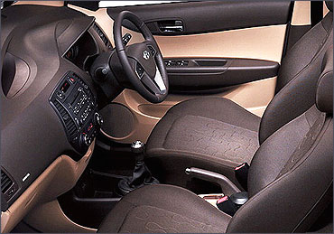 Interior view of Hyundai i20.