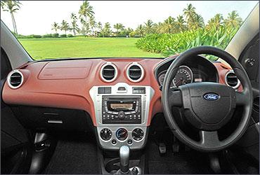 Dashboard of Ford Figo.