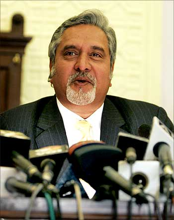 Vijay Mallya saw rise in wealth.
