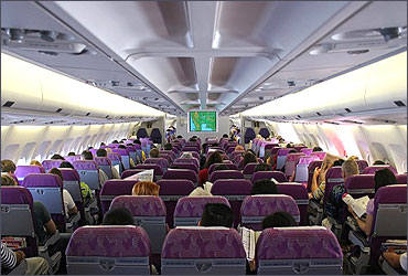 The Economy Class of Thai Airways.