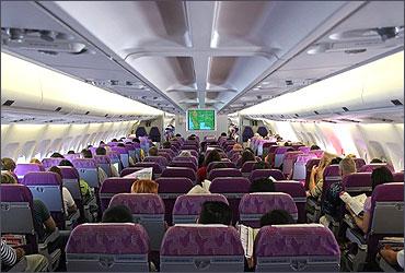 The Economy Class of Thai Airways.