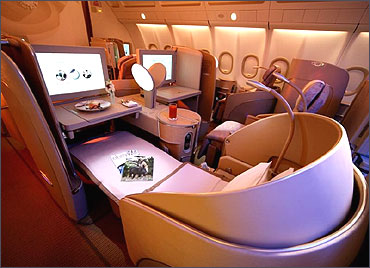First Class of Etihad.