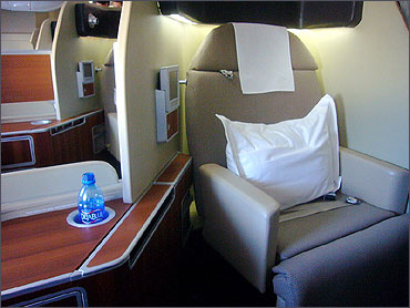 Qantas First Class suite on the A380.