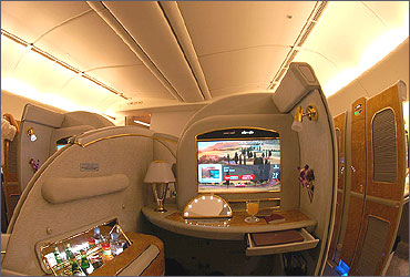 First Class suite on a Boeing 777-200LR.