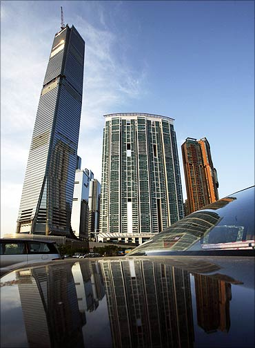 The International Commerce Centre in Hong Kong.