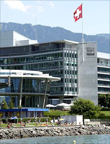 headquarters of food giant Nestle in Vevey.