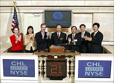 China Mobile listed on NYSE.