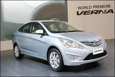 The new Hyundai Fluidic Verna CRDi.