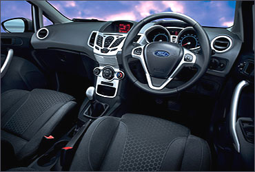 The interior of the new Ford Fiesta.