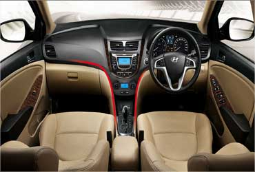 The interior of the new Hyundai Verna.