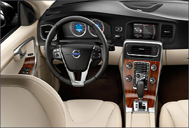 Interior view of Volvo S60.