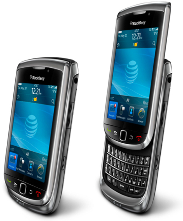 RIM's Torch phones face competition from iPhones and Samsung's Galaxy series.